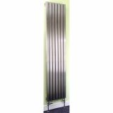 Product image for Apollo Ferrara Brushed Stainless Steel Vertical Radiator 1800mm High