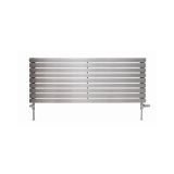 Product image for Apollo Ferrara Brushed Stainless Steel Horizontal Radiator 400(h)mm