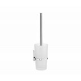 Product image for Smedbo Pool Toilet Brush including Container in Frosted Glass ZK333