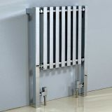 Product image for Phoenix Ava Chrome Designer Radiator 800 x 600mm