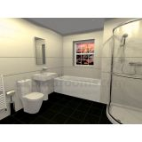 Product image for Veneto Basin, WC, Shower & Bath Suite
