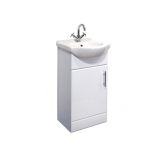 Product image for Essential Gem 450 Vanity Unit and Basin (White)