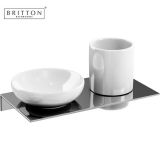 Product image for Britton Double Ceramic Soap Dish amd Tumbler Set