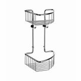 Product image for Smedbo Sideline Double Corner Soap Basket (165 x 165mm, Height: 295mm)