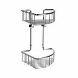 Product image for Smedbo Sideline Double Corner Soap Basket (207 x 207mm, Height: 295mm)