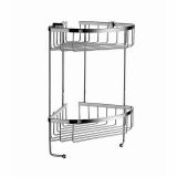 Product image for Smedbo Sideline Double Corner Soap Basket (160 x 160mm, Height: 60mm)