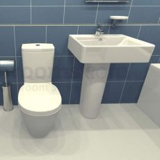 Product image for Basin & Toilet Suite