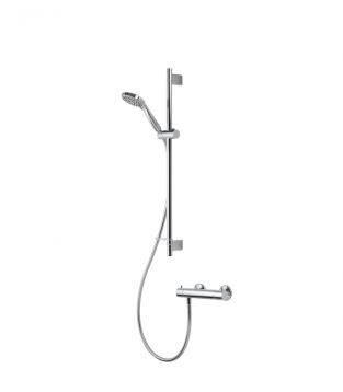 Product image for Aqualisa Midas 300 Exposed shower system with adjustable height