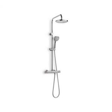 Product image for Roca Victoria-T Thermostatic Shower Column with 2 Heads