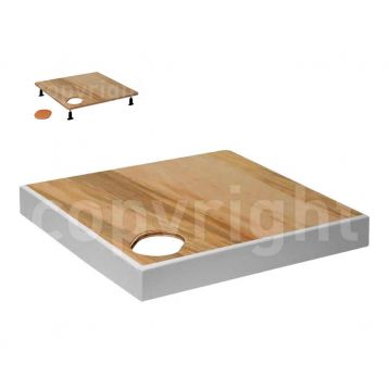 Product image for Simpsons Quadrant Shower Tray Frame