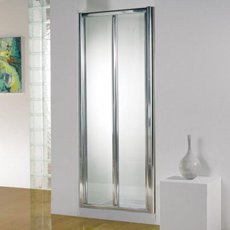 Kudos original 760mm bi fold door uk bathrooms for Folding shower for small bathrooms