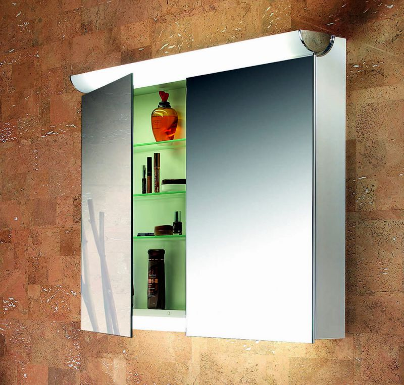 schneider faceline 2 door illuminated mirror cabinet uk bathrooms