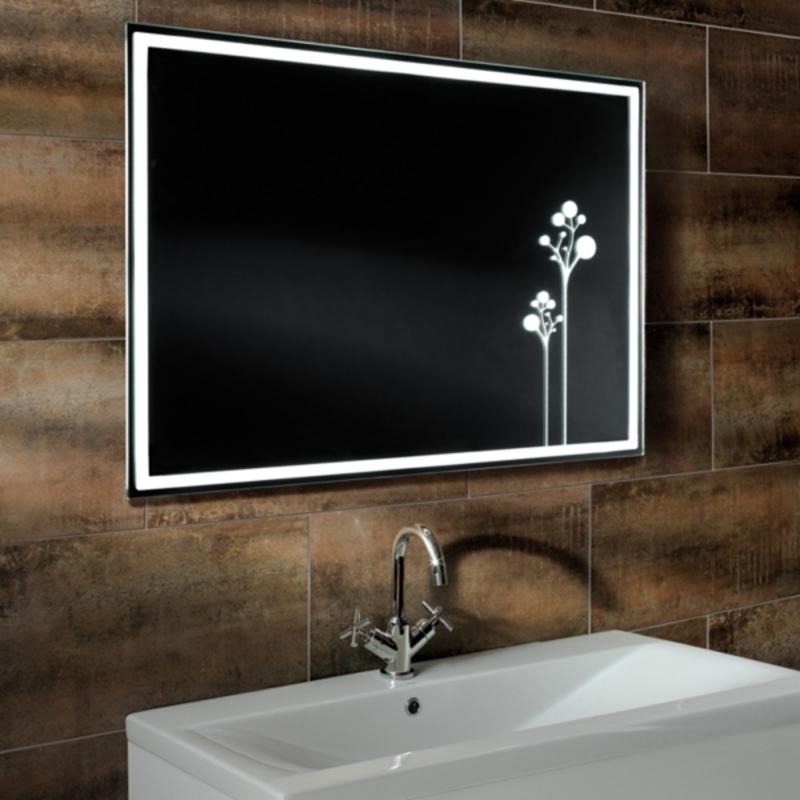 Excellent Round Heated Modern Bathroom Mirrors With Lights Behind  Designs