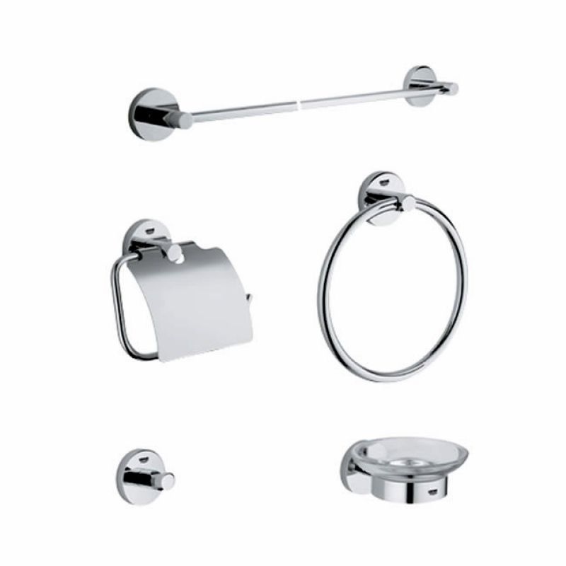 Grohe essentials 5 piece accessory set uk bathrooms for Bathroom accessories grohe