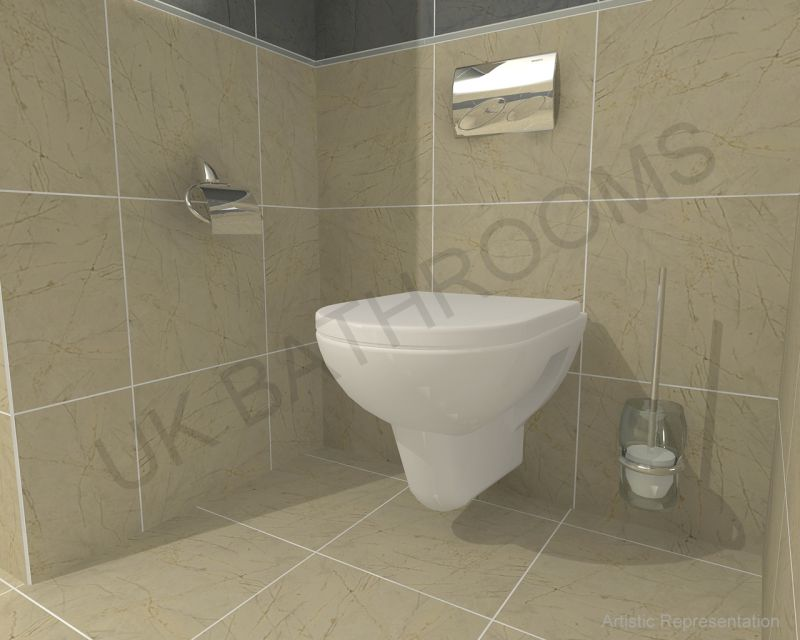 Vitra S20 Wall Hung Toilet And Geberit Wc Frame Pack Uk