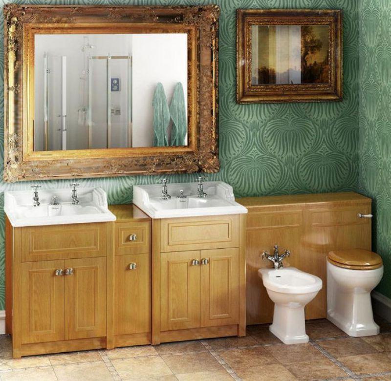 Burlington Solid Wood Traditional Vanity Joining Unit Uk Bathrooms