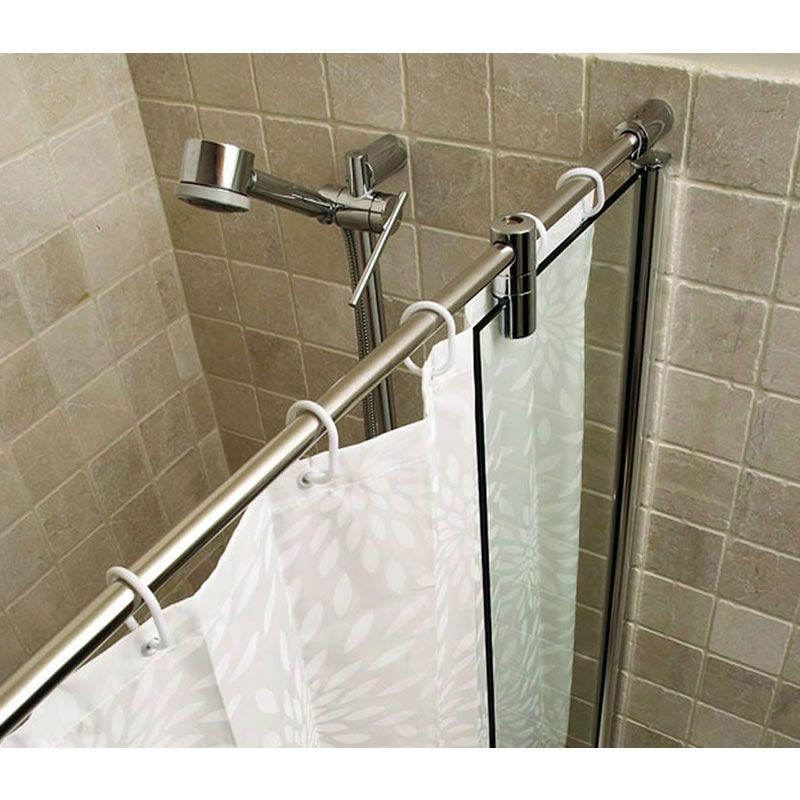 Kudos ultimate over bath shower panel curved rail uk for Bathroom curtain rail