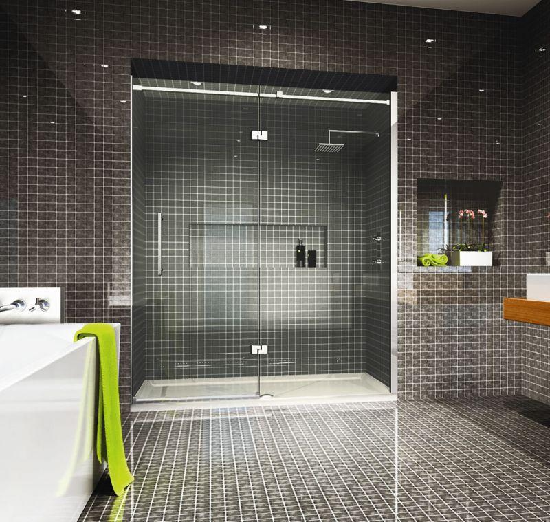 Merlyn Series 9 Large Hinge And Inline Shower Enclosure UK Bathrooms