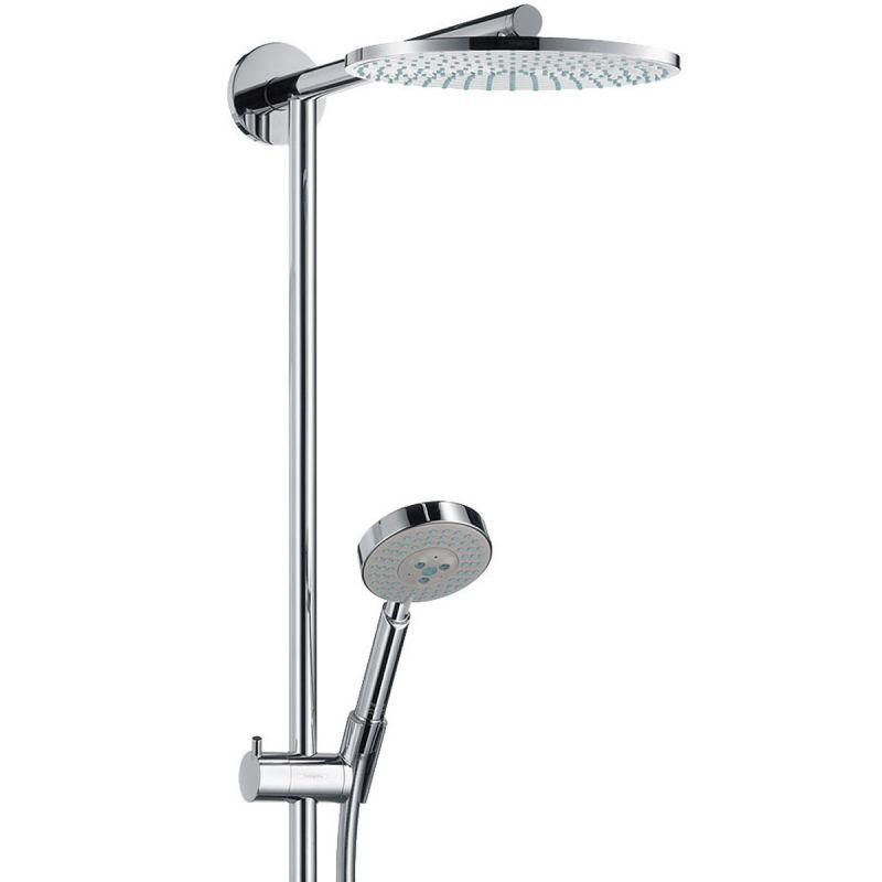 hansgrohe raindance 240mm shower pipe uk bathrooms. Black Bedroom Furniture Sets. Home Design Ideas
