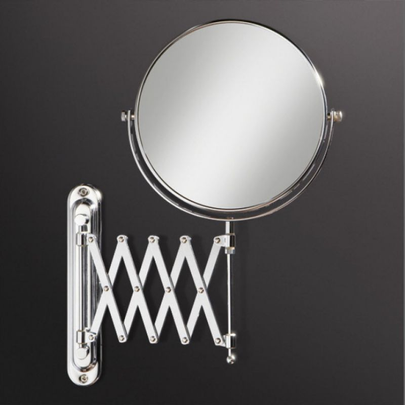 Hib rossi extendable 20cm mirror uk bathrooms for Wall mounted extendable mirror bathroom