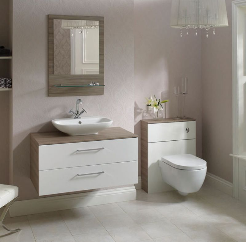 Shades MS560 Mirror With Glass Shelf UK Bathrooms