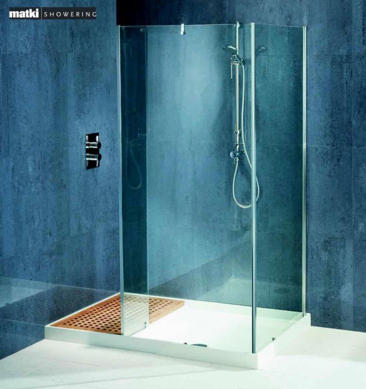 Matki Original Walk-In Corner Shower Enclosure : UK Bathrooms