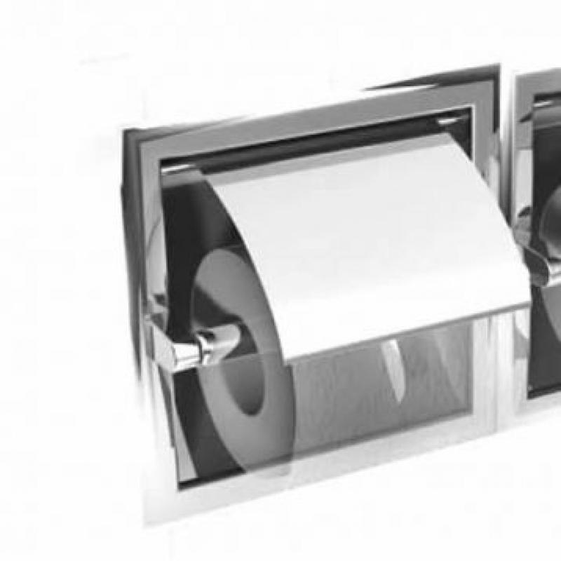 Inda Hotellerie Toilet Roll Holder Recessed Uk Bathrooms