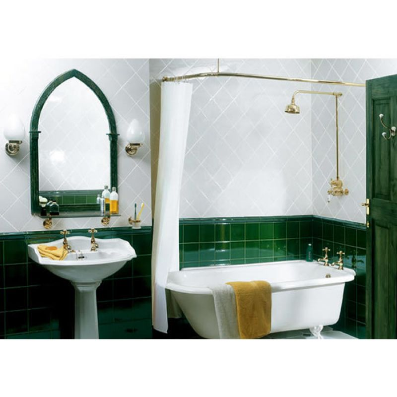 Beautiful Bendy Shower Curtain Rail Mold - Bathroom with Bathtub ...