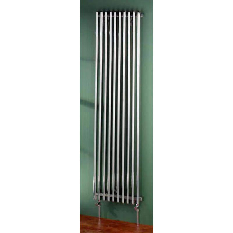 Aestus Exxo Vertical Radiator Brushed Uk Bathrooms