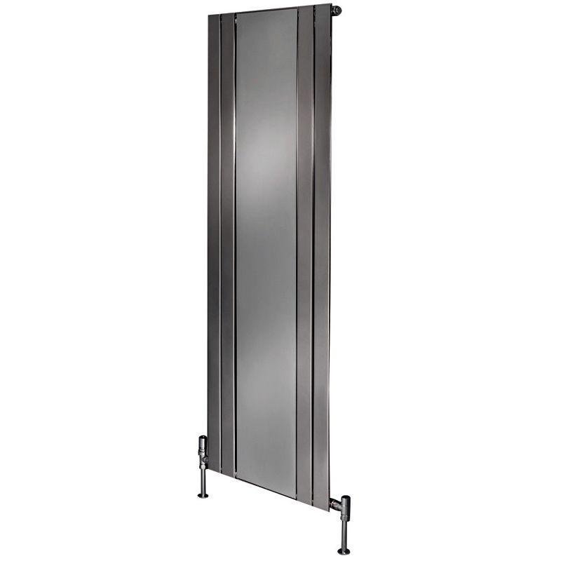 Apollo empoli vertical chrome radiator with mirror uk for Mirror radiator