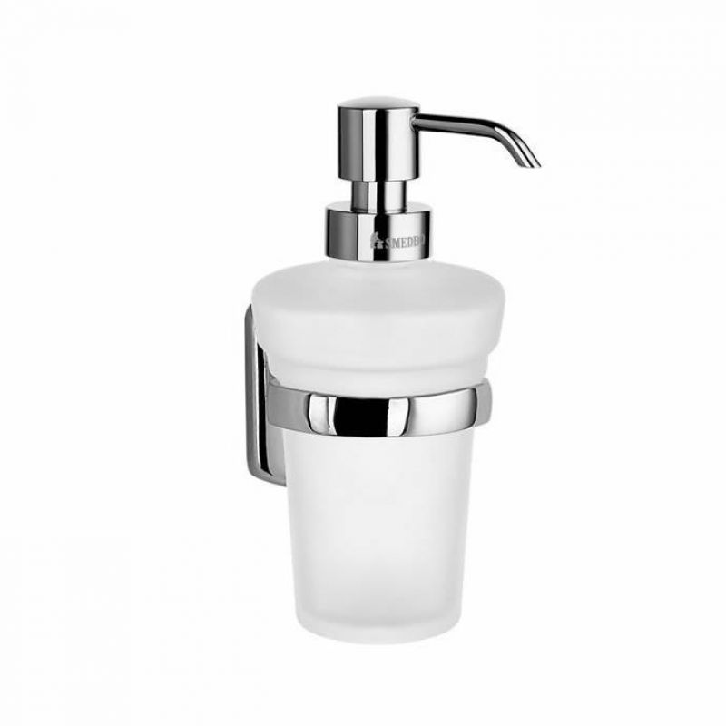 Smedbo cabin glass soap dispenser height 160mm ukbathrooms for Bathroom accessories height