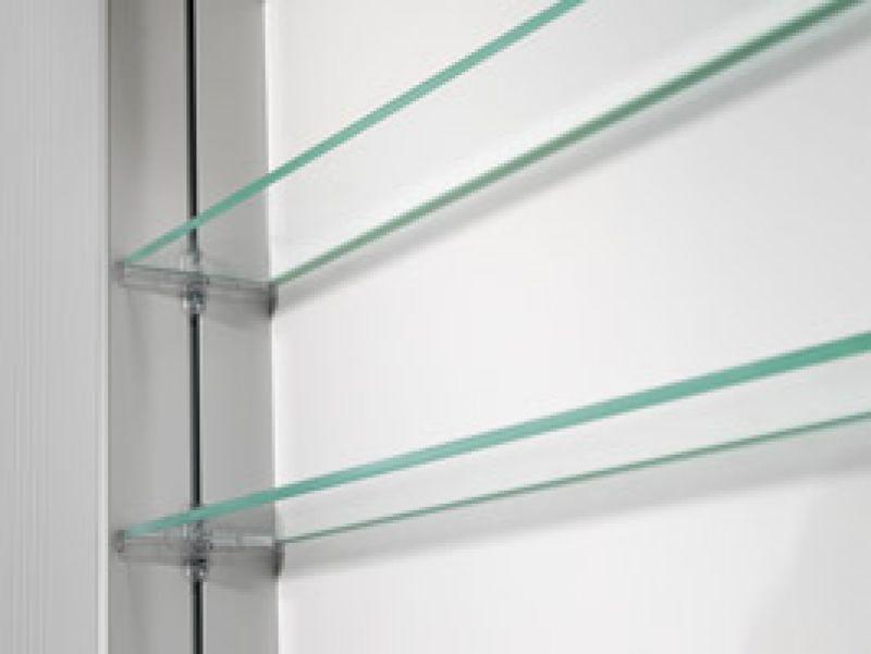 Bathroom Mirror Cabinet W Led Lights Adjustable Shelves: Schneider Lowline 1 Door Mirror Cabinet With Fluorescent