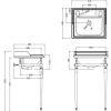 Burlington Classic Square Washstand with Small 50cm Basin