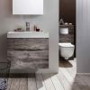 Crosswater Glide II Wall Hung Vanity Unit and Mineral Marble Basin