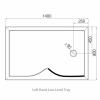 Roman Lumin8 Curved Wetroom Panel