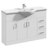 UK Bathrooms Essentials Newby Spacious Vanity Unit