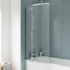 UK Bathrooms Essentials Curved Hinged P-Bath Screen