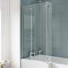 UK Bathrooms Essentials Square Hinged Bath Screen