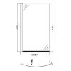 UK Bathrooms Essentials Curved B-Bath Screen