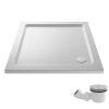 UK Bathrooms Essentials Rectangular Shower Tray Pack inc. Chrome Waste
