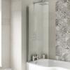 UK Bathrooms Essentials Curved P-Bath Screen