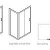 Simpsons Classic Single Slider Shower Door