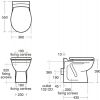 Ideal Standard Alto Back to Wall Toilet