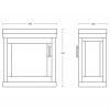 Imperial Carlyon Thurlestone 1 Door Cloak Vanity Unit