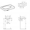 Geberit Acanto Asymmetric 40cm Hand Basin