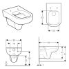 Geberit Smyle Rimfree Wall-hung Toilet