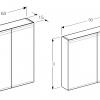 Geberit Option 2 Door Mirror Cabinet