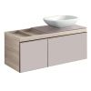 Geberit Citterio Vanity Unit with Two Drawers and Lay-on Basin
