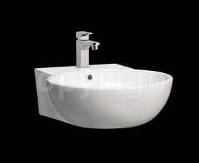 Bauhaus Modest 50 Wall Mounted Basin