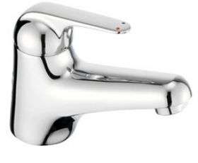 Pegler Loko Monobloc Basin Mixer Tap with Eco Function